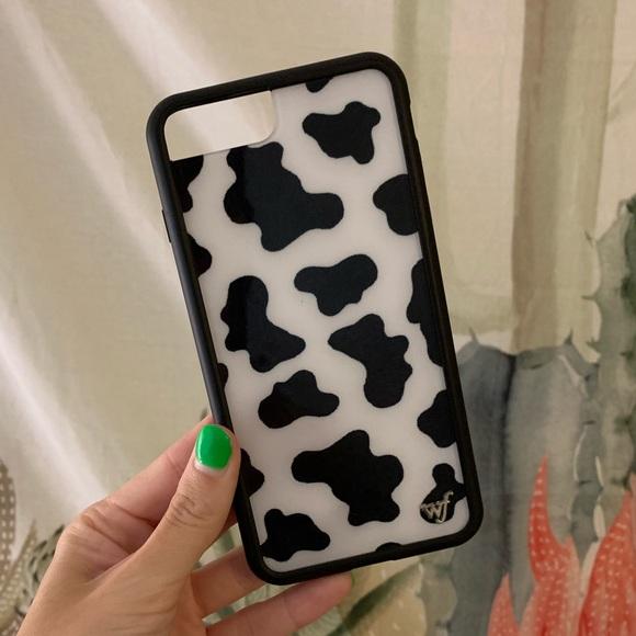 low priced 48cbd 1a4d1 Wildflower Accessories | Cow Print Phone Case Iphone 8 Plus | Poshmark